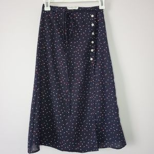 Goodnight Macaroon Wrap Skirt XS Polka Dots